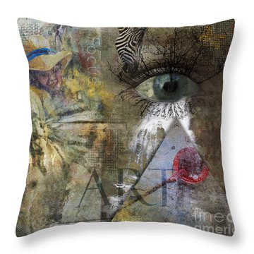 Asperger's Throw Pillow by Nola Lee Kelsey