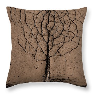 Crack Throw Pillows