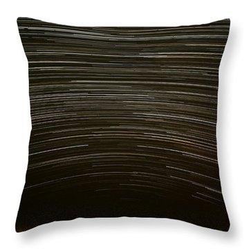 Assateague Star Trails Throw Pillow by Benjamin Reed