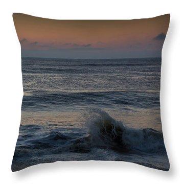 Assateague Waves Throw Pillow