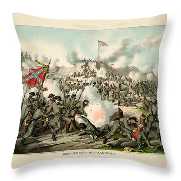 Assault On Fort Sanders Throw Pillow