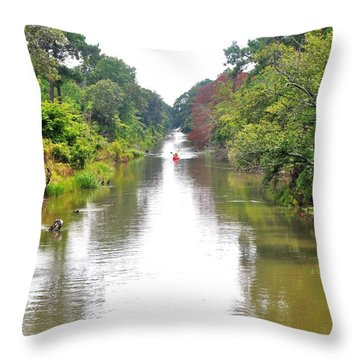 Assawoman Canal - Delaware Throw Pillow