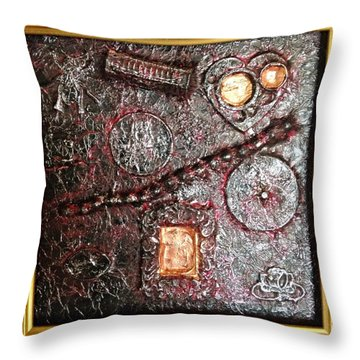 Assemblage Art By Alfredo Garcia Art  Throw Pillow