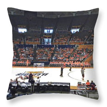 Assembly Hall University Of Illinois Throw Pillow by Thomas Woolworth