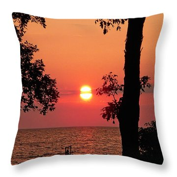 Association Island Sunset Throw Pillow by Aimee L Maher Photography and Art Visit ALMGallerydotcom