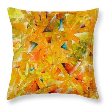 Asterisms Throw Pillow by Regina Valluzzi