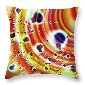 Asteroid Belt Throw Pillow by Anastasiya Malakhova