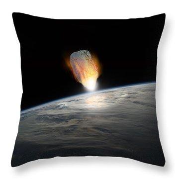 Asteroid Strike No.1  Throw Pillow