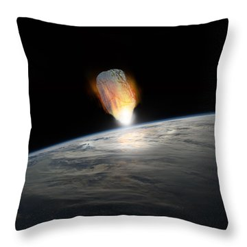 Asteroid Strike No.1s Throw Pillow