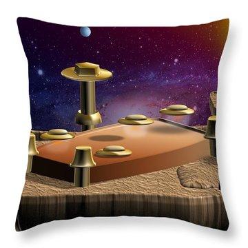 Asteroid Terminal Throw Pillow