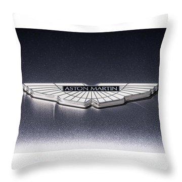 Aston Martin Badge Throw Pillow by Douglas Pittman