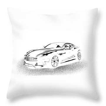 Aston Martin Throw Pillow by Rogerio Mariani