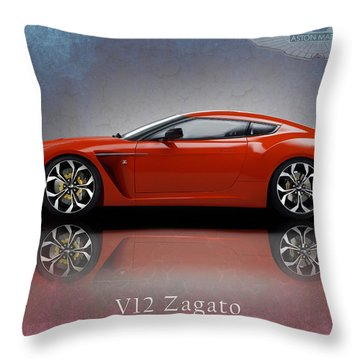 Aston Martin V12 Zagato Throw Pillow