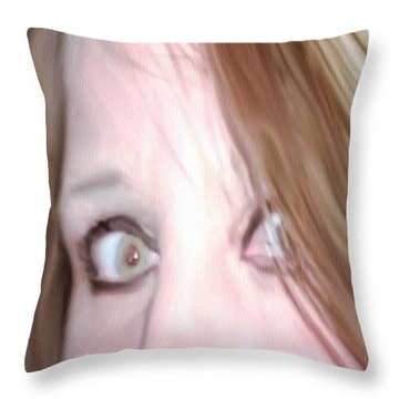 Astonished Throw Pillow