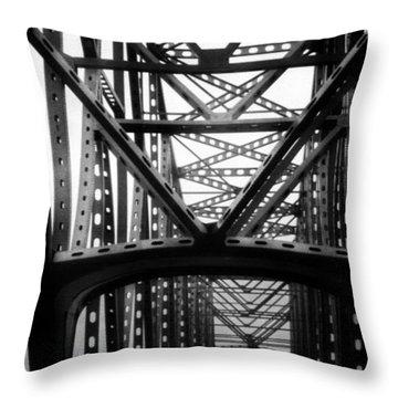 Throw Pillow featuring the photograph Astoria Bridge by Tarey Potter