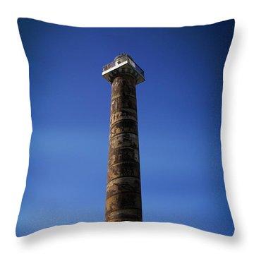 Aaron Berg Photography Throw Pillow featuring the photograph Astoria Column 1926 by Aaron Berg