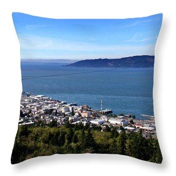 Aaron Berg Photography Throw Pillow featuring the photograph Astoria Oregon by Aaron Berg