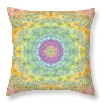 Astral Field Throw Pillow by Mark Greenberg