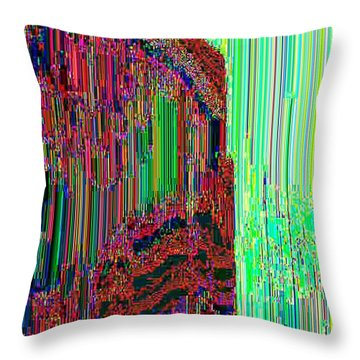 Throw Pillow featuring the digital art Astral34  by Lyle Crump