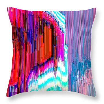 Throw Pillow featuring the digital art Astral35  by Lyle Crump