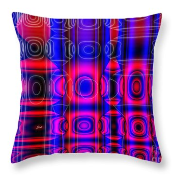 Throw Pillow featuring the digital art Astratto - Abstract 75 by Ze  Di