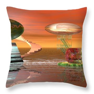 Astro Space Throw Pillow by Jacqueline Lloyd