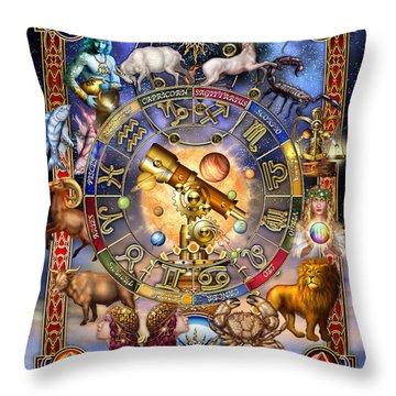 Astrology Throw Pillow by Ciro Marchetti