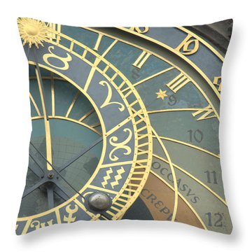 Astronomical In Prague Throw Pillow