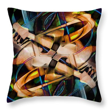 Asturias In G Minor Abstract Throw Pillow