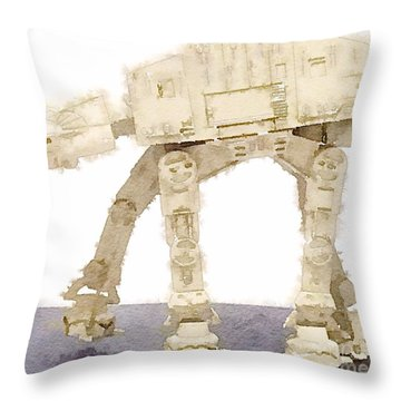 At-at All Terrain Armored Transport Throw Pillow
