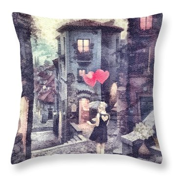At Heart Throw Pillow by Mo T