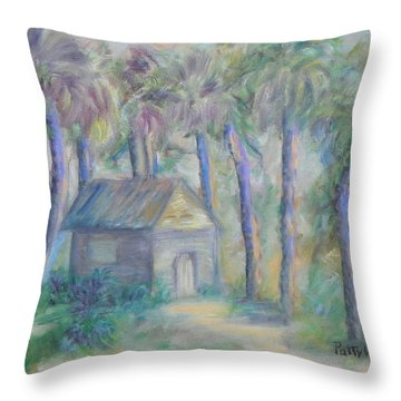 At Home In Marineland Fl Throw Pillow