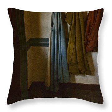 At Home Throw Pillow by Margie Hurwich