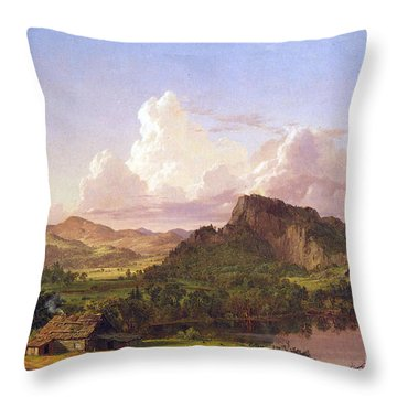 At Home On The Lake By Frederick Edwin Church Throw Pillow