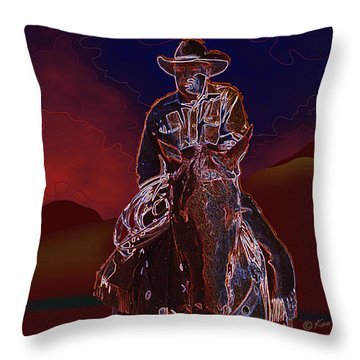 At Home On The Range Throw Pillow by Kae Cheatham