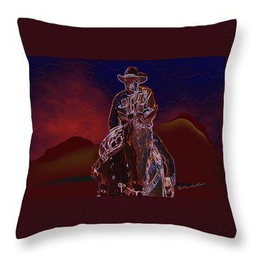 At Home On The Range Throw Pillow