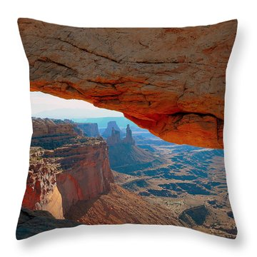 At Mesa Arch  --   2010 First Place Peoples Choice Caa Art Show  Throw Pillow