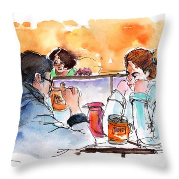 At Nashville Ihop Throw Pillow by Miki De Goodaboom