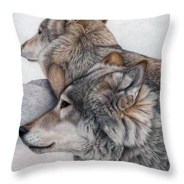 At Rest But Ever Vigilant Throw Pillow by Pat Erickson