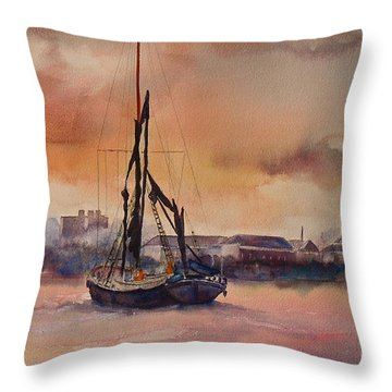 At Rest On The Thames London Throw Pillow