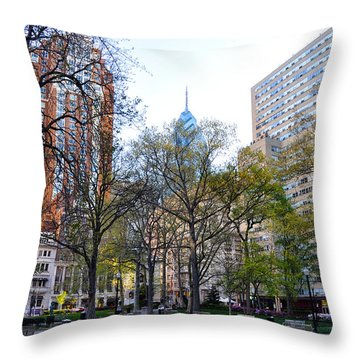 At Rittenhouse Square Throw Pillow