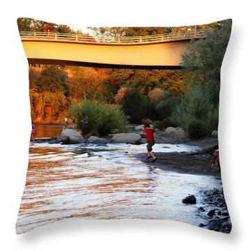 Throw Pillow featuring the photograph At Rivers Edge by Melanie Lankford Photography