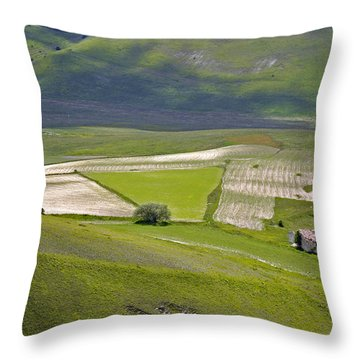 Throw Pillow featuring the photograph Parko Nazionale Dei Monti Sibillini, Italy 7 by Dubi Roman