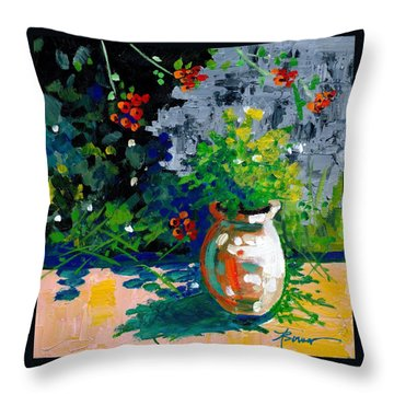 At Tharri Monastery-rhodes Throw Pillow