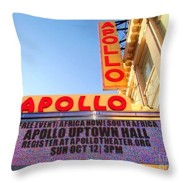 At The Apollo Throw Pillow by Ed Weidman