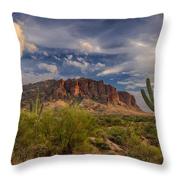 At The Base Of The Mountain Throw Pillow by Saija  Lehtonen