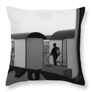 At The Beach - Monochrome Throw Pillow by Ulrich Kunst And Bettina Scheidulin