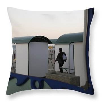 At The Beach Throw Pillow by Ulrich Kunst And Bettina Scheidulin