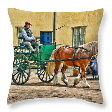 At The Blacksmiths Throw Pillow