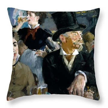 At The Cafe Concert Throw Pillow by Edouard Manet